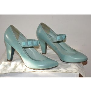 Patrizia Pepe Pale Blue Mary Jane Pump Heel 40/8.5